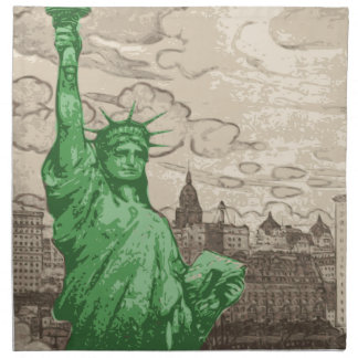 Classic Statue of Liberty Napkin