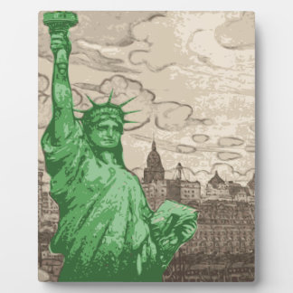 Classic Statue of Liberty Plaque