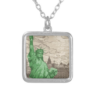 Classic Statue of Liberty Silver Plated Necklace