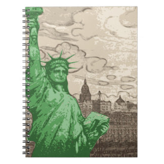 Classic Statue of Liberty Spiral Notebook