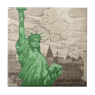 Classic Statue of Liberty Tile