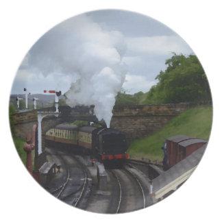 Classic Steam Train Plate