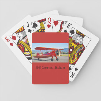 Classic Stearman Biplane Playing Cards