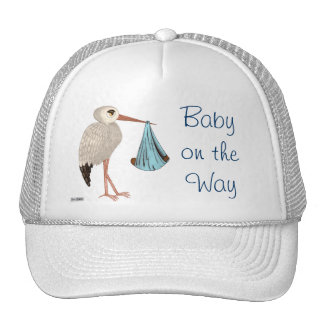 Classic Stork (Blue) 2 (Baby Shower) Trucker Hat