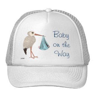 Classic Stork (Blue) (Baby Shower) Trucker Hat