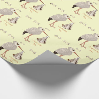 Classic Stork (Neutral) 2 (Baby Shower) Wrapping Paper