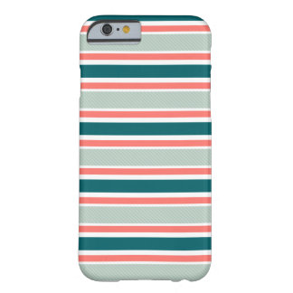 Classic Striped iPhone case in blue and red colors