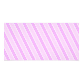 Classic Stripes Pink Candy girly backgrounds Photo Card