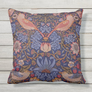 CLASSIC STYLE FLORAL AND BIRDS Throw Cushion