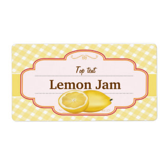Classic Style Jam Jelly Traditional Lemon Jam Shipping Label