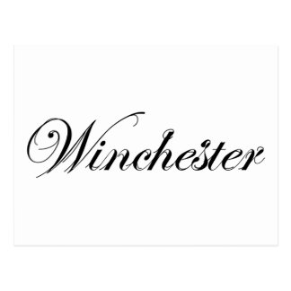 Classic Style Winchester Logo Postcard
