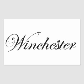Classic Style Winchester Logo Sticker