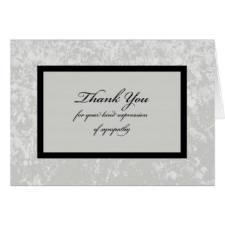 Classic Sympathy Thank You Card