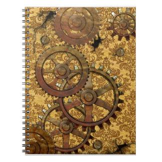 Classic Tan Steampunk Notebook