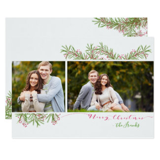 Classic Texas Mesquite Twig Holiday Photo Card