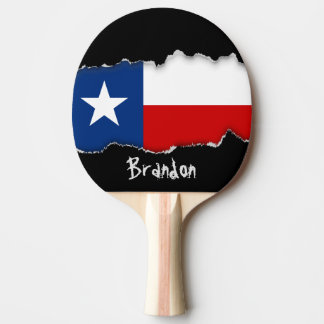 Classic Texas State Flag Ping Pong Paddle