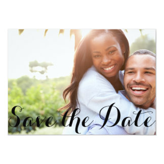 "Classic Text | Save the Date Postcard 5"" X 7"" Invitation Card"