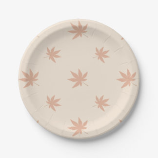 Classic Thanksgiving Autumn Leaves Paper Plate