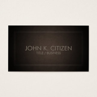 Classic Thin Border Brown Business Card