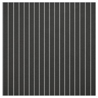 Classic Thin Gray Black Pinstripe Striped Pattern Fabric