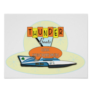 Classic Thunderboats Poster