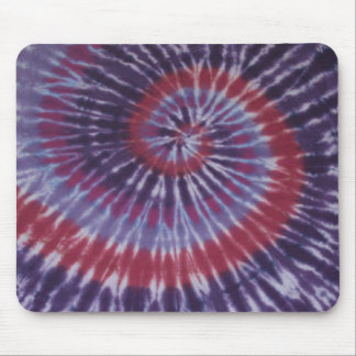 Classic Tie Dye Swirl Mouse Pad