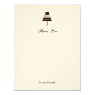 Classic Tiered Cake Bridal Thank You Card