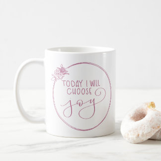 Classic Today I will choose joy floral wreath mug