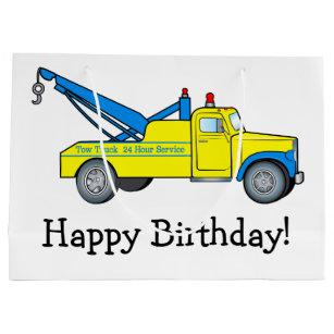 Happy Birthday Trucks Gift Bags