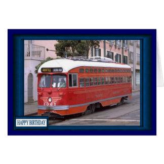 Classic town tram card