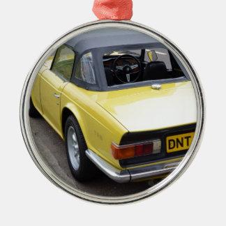 Classic TR6 Triumph Sportscar Metal Ornament