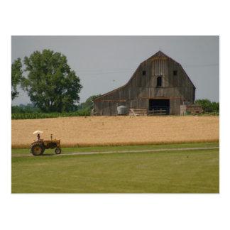 Classic Tractor & Barn Postcard
