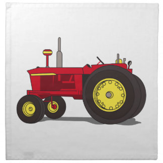 Classic tractor cloth napkin