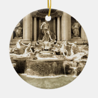 Classic Trevi Fountain, Rome Ceramic Ornament