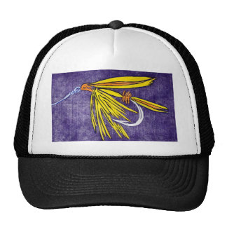 "Classic Trout Fly Hat ""Wet Fly Yellow and Orange"""