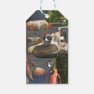Classic truck as a sketch gift tags pack of gift tags