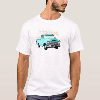 Classic truck in blue, very old semi pickup T-Shirt