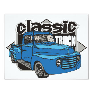 "Classic Truck 4.25"" X 5.5"" Invitation Card"