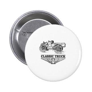 classic truck run 2 inch round button