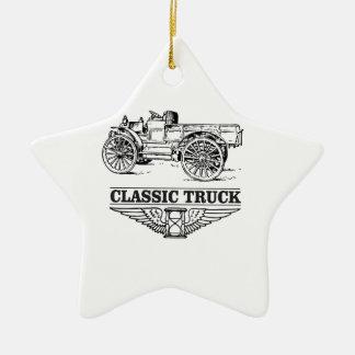 classic truck run ceramic star ornament