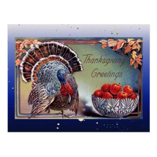 Classic Turkey and Bowl of Apples Postcard
