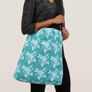 Classic-Turquoise-Roses(c) Multi-Choices Crossbody Bag