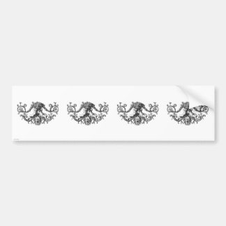 Classic Two Cherubs with Ivy and Flowers Bumper Sticker