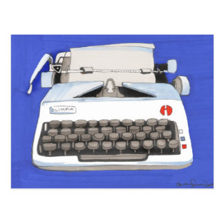 Classic Typewriter Postcard