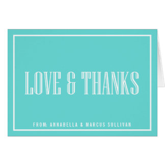 Classic Typography Thank You Card - Tiffany Blue