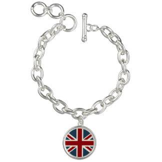 Classic Union Jack Flag Charm Bracelet