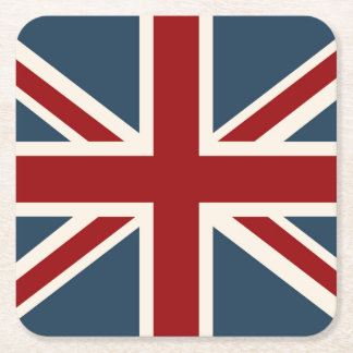 Classic Union Jack Flag Square Paper Coaster