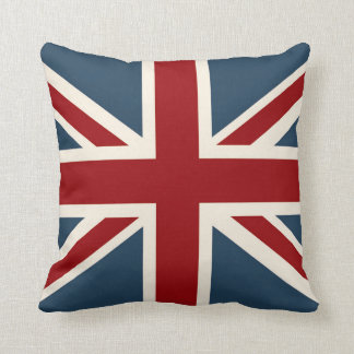 Classic Union Jack Flag Throw Pillow