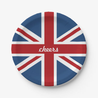 Classic Union Jack UK Flag 7 Inch Paper Plate