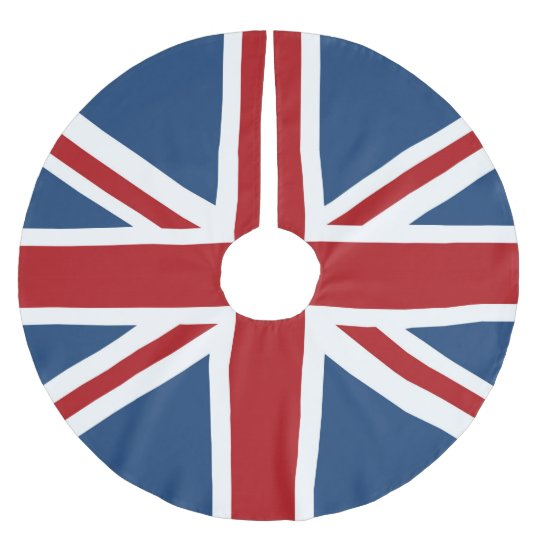Classic Union Jack UK Flag Brushed Polyester Tree Skirt